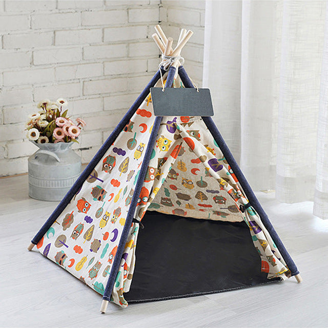 Portable Linen Tent for cats