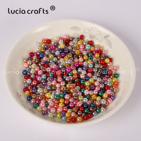 Loose round colored imitation pearls 500pcs