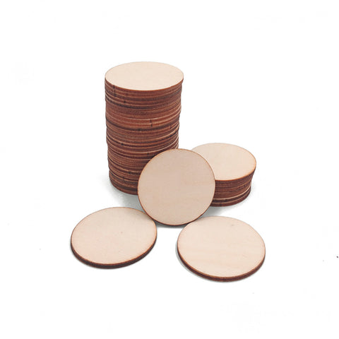 Blank Unfinished wood discs