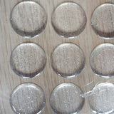 100pcs round clear resin circle stickers