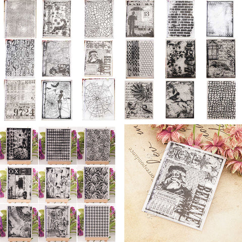 Clear craft scrapbook paper