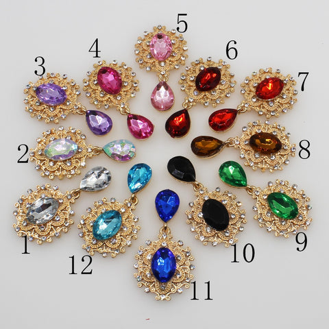Mini Flower Brooch 10pc 25*45MM
