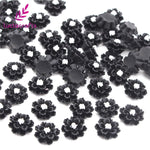 Flatback resin multi-use flower 50pcs