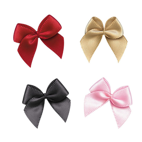 Colored Satin ribbon bows 50pcs