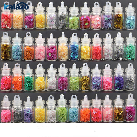 Glitter powder nail sticker set 12btl