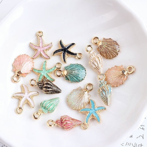 Conch Sea shell charm pendants 10Pcs