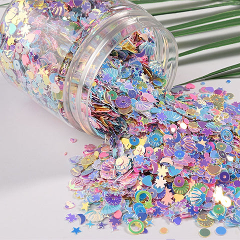 10g/Pack mix macaroon color nail sequins