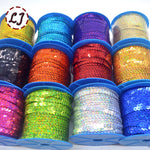 Round Flat glitter sequins 10yds 6mm