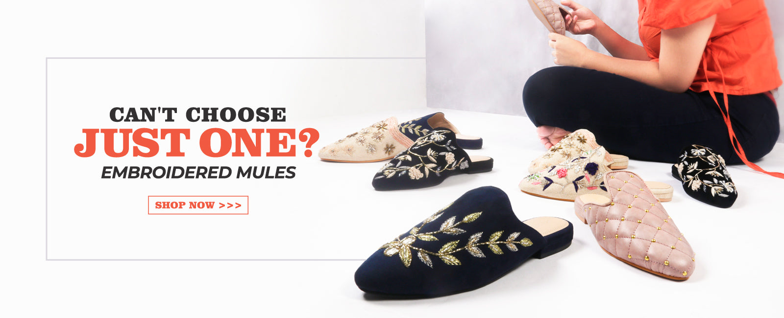 can't choose just one embroidered mules