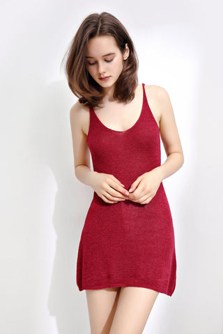 Wine Spaghetti Long Top - London Rag India