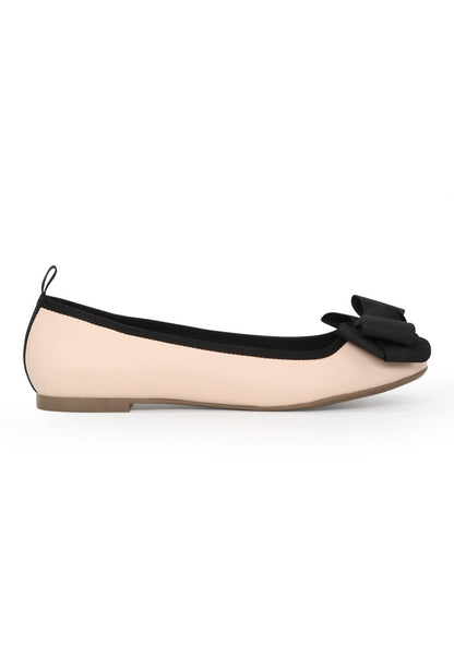 Women's Nude Flat Ballerina - London Rag India