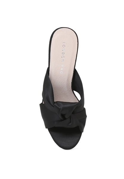 Womens Black Block Heel Sandal - London Rag India