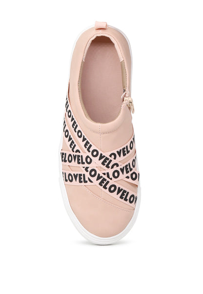 Nude Wrap Slip-On Sneakers - London Rag India