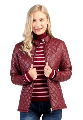 Maroon Puffer Jacket with Zip Closure - London Rag India