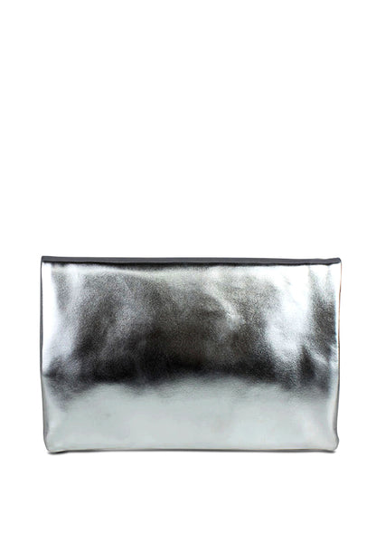 Womens Silver Clutch - London Rag India
