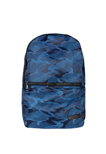 Navy Camo Military Print Backpack - London Rag India