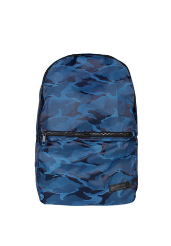 Womens Navy Camo Milatary Print Backpack - London Rag India