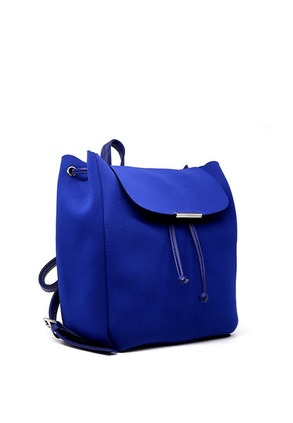 Solid Color Blue Trendy Backpack - London Rag India