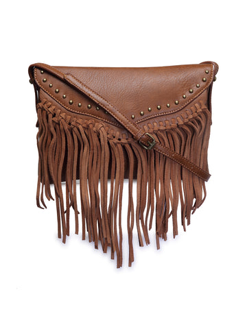 Womens Brown Sling Bag - London Rag India