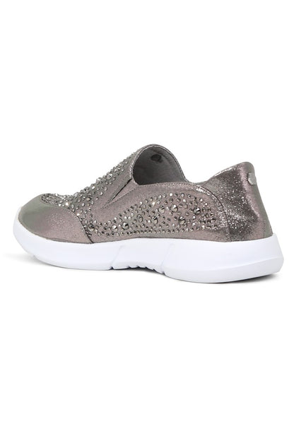 Womens Pewter Sneakers - London Rag India