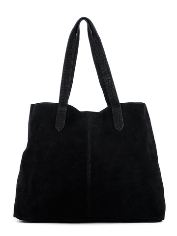 Womens Black Fabric Tote Bag - London Rag India