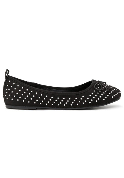 Womens Black Velvet Ballerinas - London Rag India