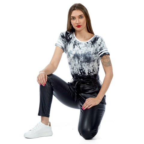 Black Tie-Dye Jersey Casual Top - London Rag India