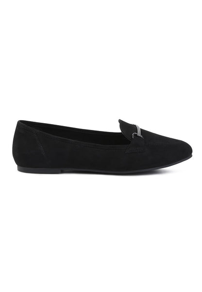 Black Metal Detail Loafer - London Rag India