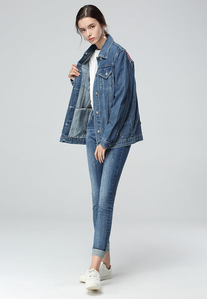 Blue Denim Jacket in Long Sleeves - London Rag India