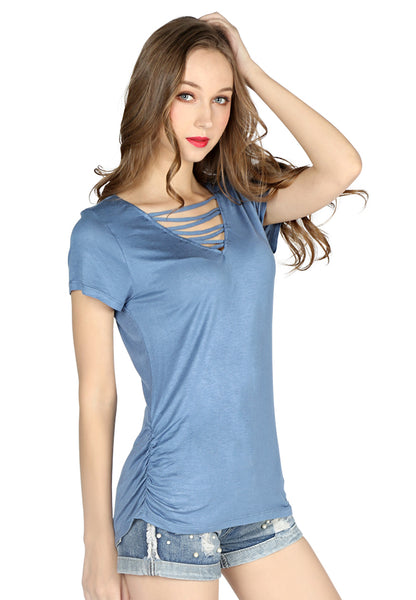 Moon Light Blue Casual Top - London Rag India
