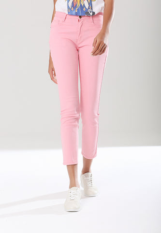Pink Skinny Straight Fit Denims - London Rag India