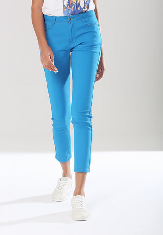 Blue Skinny Straight Fit Denims - London Rag India