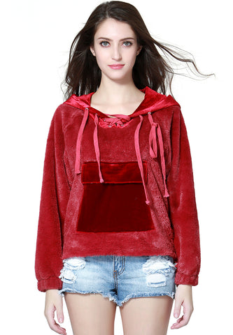 Burgundy Furr Hoodie - London Rag India