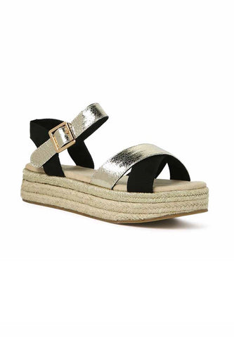 Metallic braided Espadrilles - London Rag India