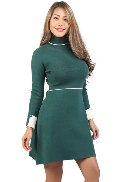 Long Sleeve Knitted Bodycon Dress - London Rag India