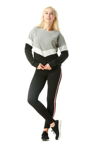 Monotone Colour Block Sweatshirt in Black - London Rag India