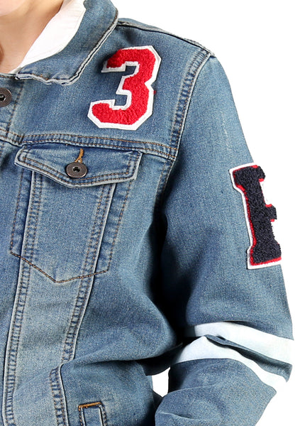 Blue Denim Jacket with Patch - London Rag India
