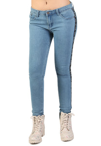 Skinny Side Taped Jeans - London Rag India