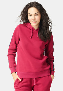 Red Taped Sleeve Hoodie - London Rag India