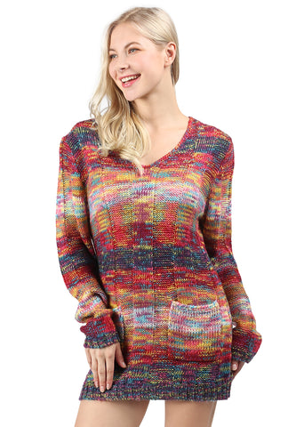 London Rag Textured Multi color Sweater - London Rag India