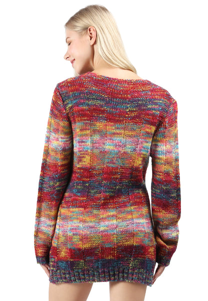 Multi Color Textured Sweater - London Rag India