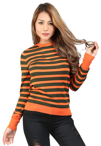 Orange Light Weight Pullover Sweater - London Rag India