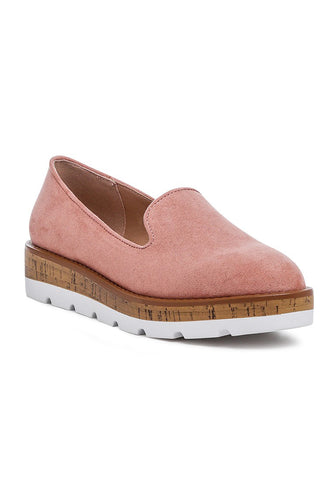 Blush Canvas Slip-On Loafer