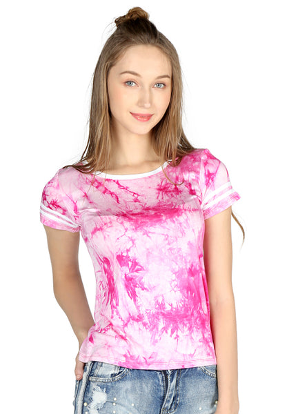 Pink Tie-Dye Jersey Casual Top - London Rag India