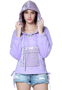 Purple Casual Hoodie - London Rag India