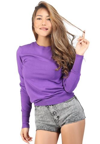 London Rag Light weight pullover Sweater Purple - London Rag India