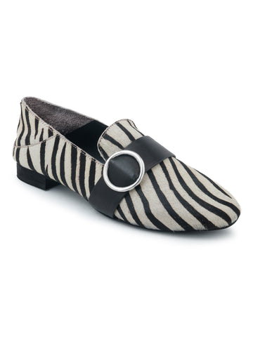 Black Printed Loafer - London Rag India