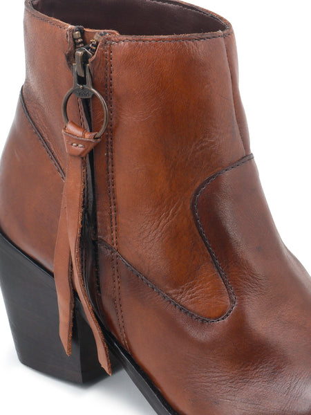 Brown Ankle Boots with Zipper - London Rag India