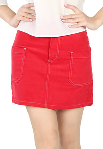 Chic Styled Red Mini Skirt - London Rag India