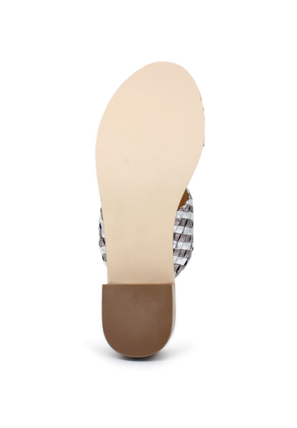 Womens Pweter Mid Heel Sandals - London Rag India